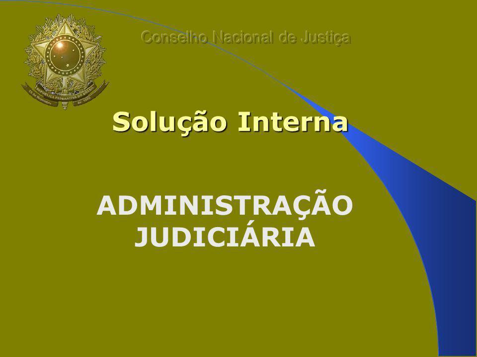Solução Interna ADMINISTRAÇÃO JUDICIÁRIA