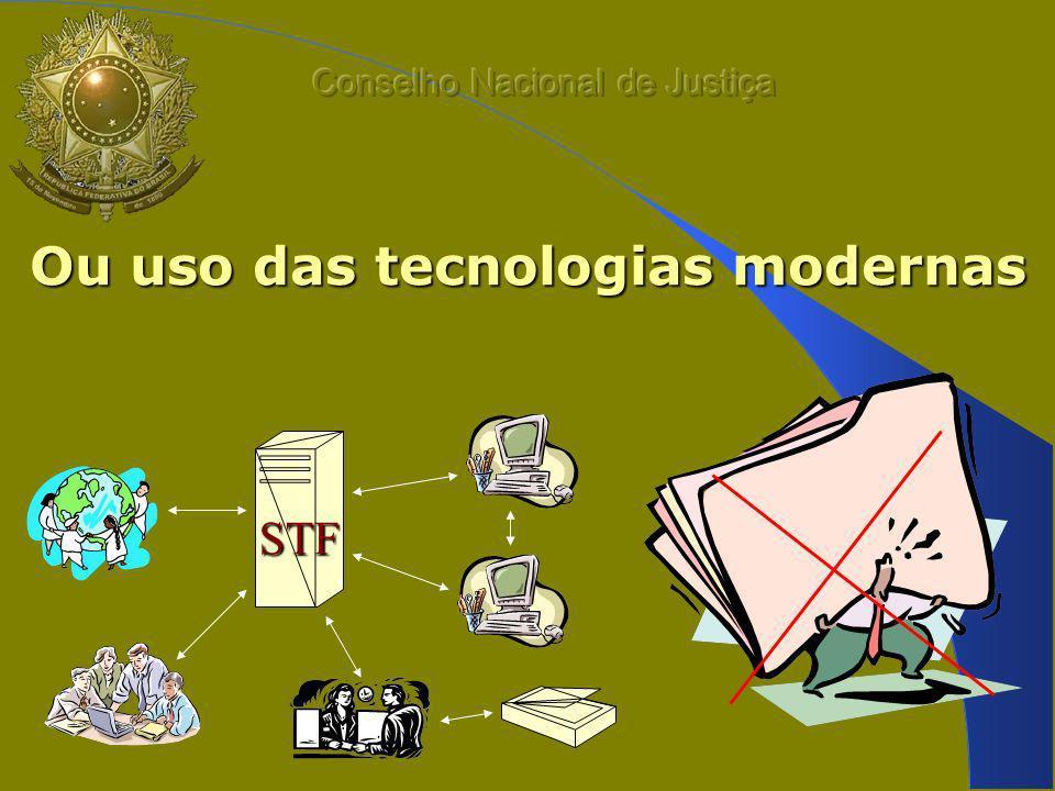 Ou uso das tecnologias modernas STF