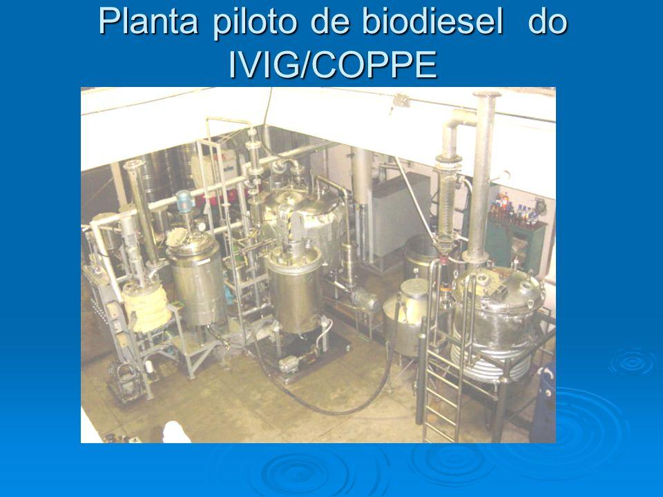 Planta piloto de biodiesel do IVIG/COPPE