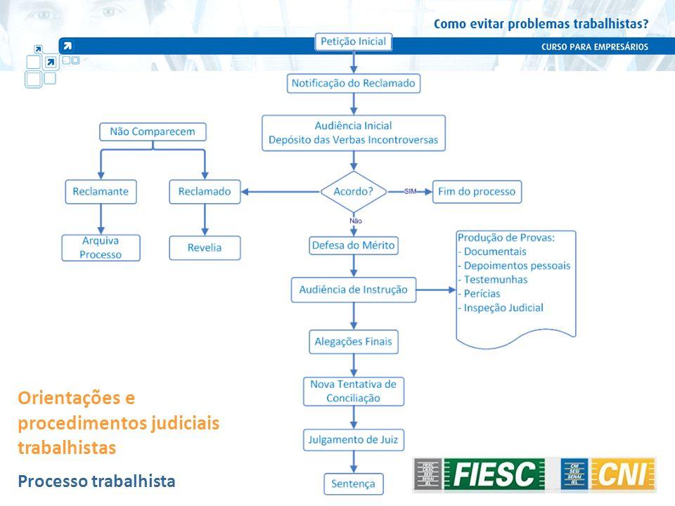 Processo trabalhista Orientações e procedimentos judiciais trabalhistas 105