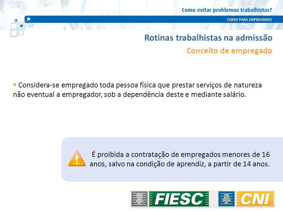 Rotinas trabalhistas na vigência do contrato Encargos trabalhistas – Desoneração da Folha de Pagamento INSS Patronal – tratamento diferenciado: Lei nº 12.546, de 14 de dezembro de 2011.