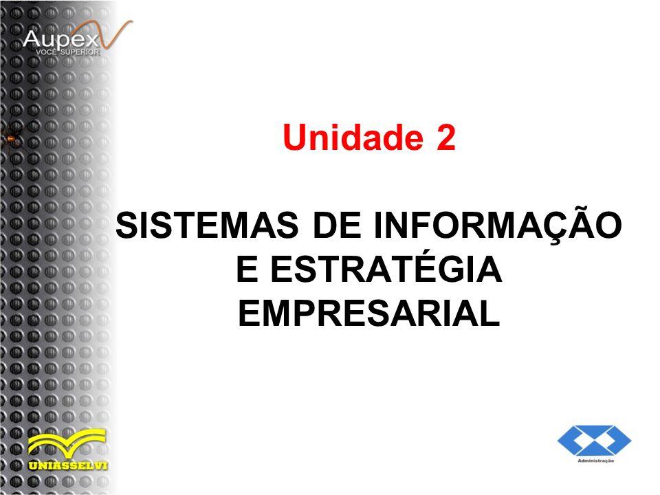 Unidade 2 SISTEMAS DE INFORMAÇÃO E ESTRATÉGIA EMPRESARIAL