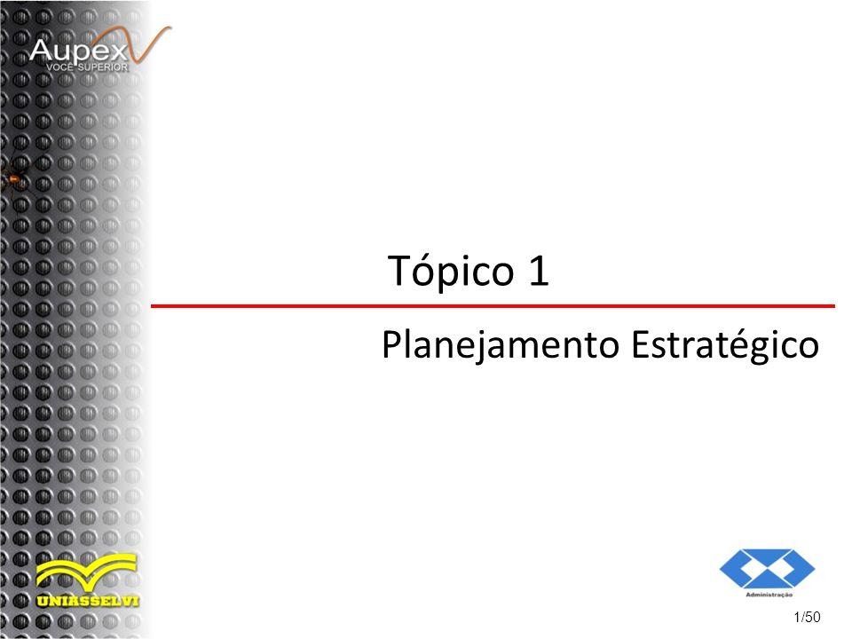 1/50 Tópico 1 Planejamento Estratégico