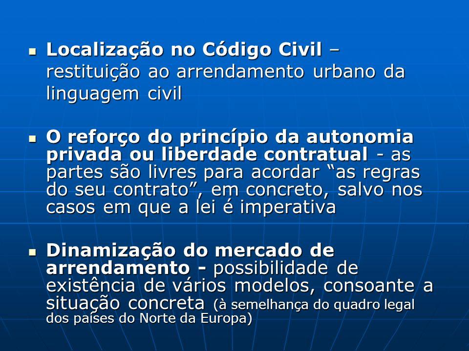 Localização no Código Civil – restituição ao arrendamento urbano da linguagem civil Localização no Código Civil – restituição ao arrendamento urbano d