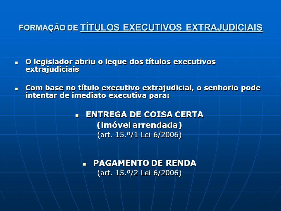 FORMAÇÃO DE TÍTULOS EXECUTIVOS EXTRAJUDICIAIS O legislador abriu o leque dos títulos executivos extrajudiciais O legislador abriu o leque dos títulos