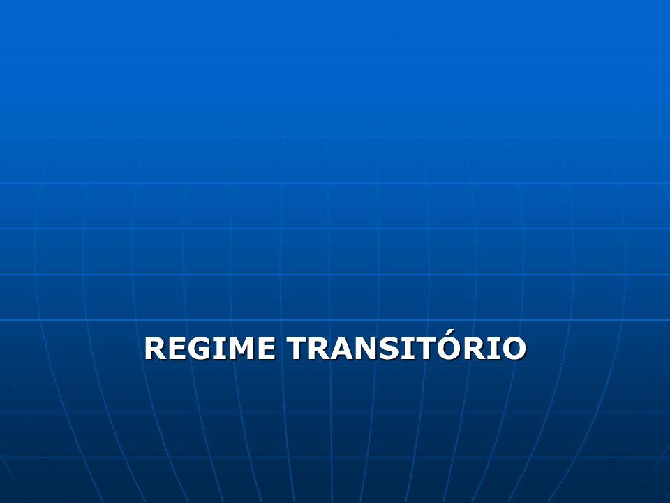 REGIME TRANSITÓRIO