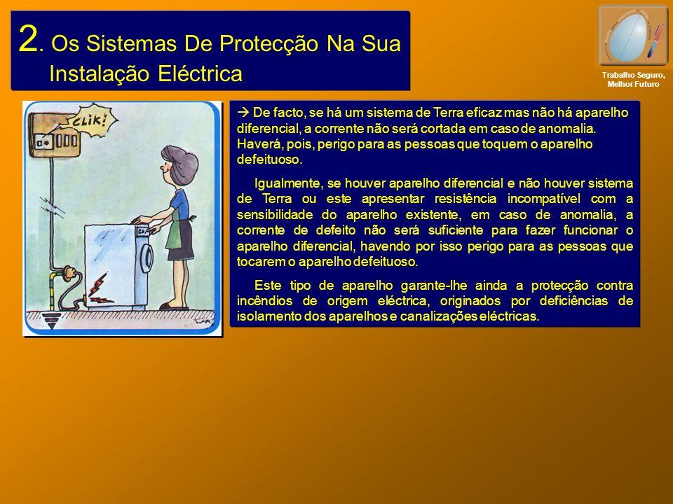 2. Os Sistemas De Protecção Na Sua Instalação Eléctrica Trabalho Seguro, Melhor Futuro De facto, se há um sistema de Terra eficaz mas não há aparelho