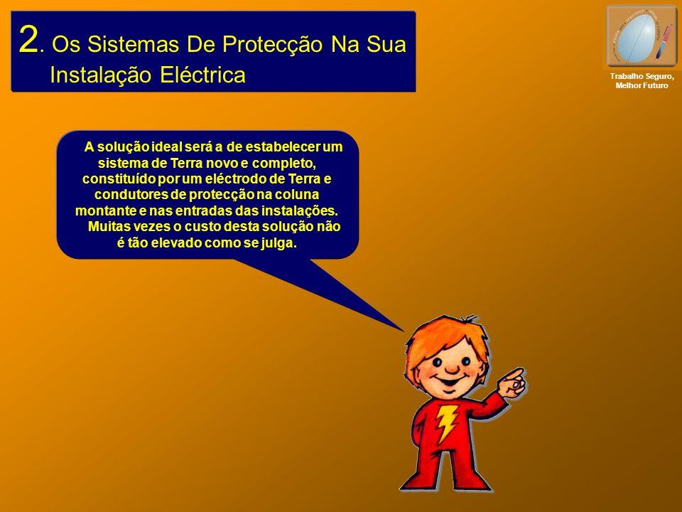 2. Os Sistemas De Protecção Na Sua Instalação Eléctrica Trabalho Seguro, Melhor Futuro A solução ideal será a de estabelecer um sistema de Terra novo