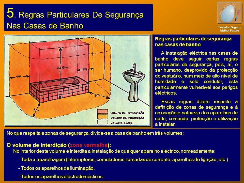 5. Regras Particulares De Segurança Nas Casas de Banho Trabalho Seguro, Melhor Futuro Regras particulares de segurança nas casas de banho A instalação