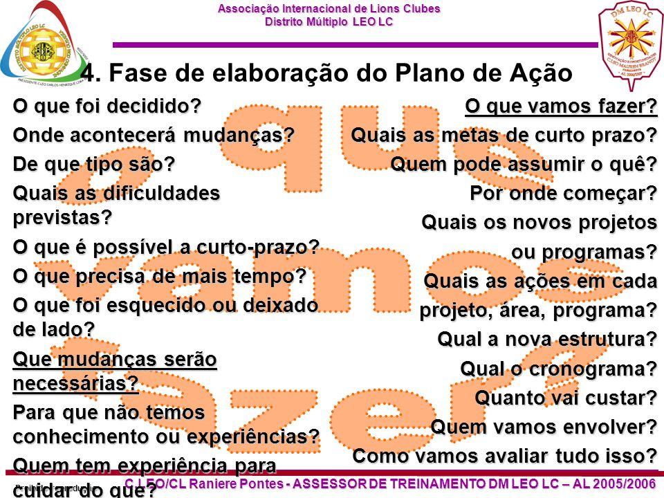 Associação Internacional de Lions Clubes Distrito Múltiplo LEO LC Proibido reprodução C.LEO/CL Raniere Pontes - ASSESSOR DE TREINAMENTO DM LEO LC – AL 2005/2006 4.