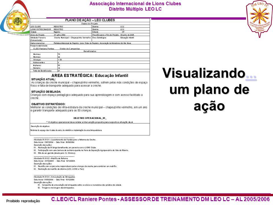 Associação Internacional de Lions Clubes Distrito Múltiplo LEO LC Proibido reprodução C.LEO/CL Raniere Pontes - ASSESSOR DE TREINAMENTO DM LEO LC – AL 2005/2006 Visualizando...