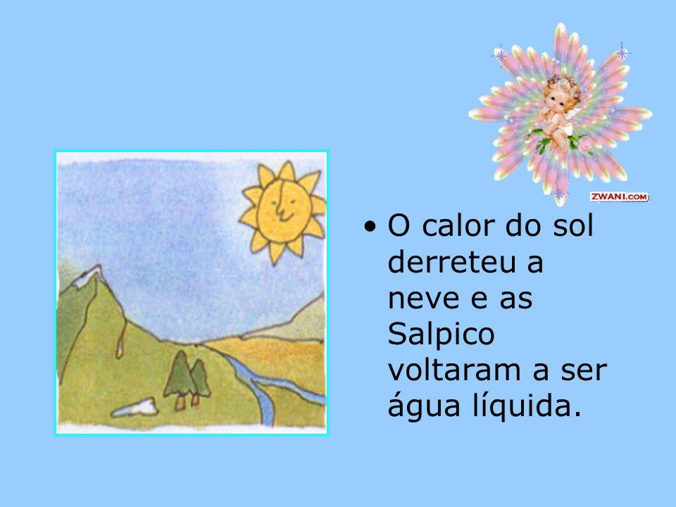 A água na natureza está continuamente se movendo como mostra a figura