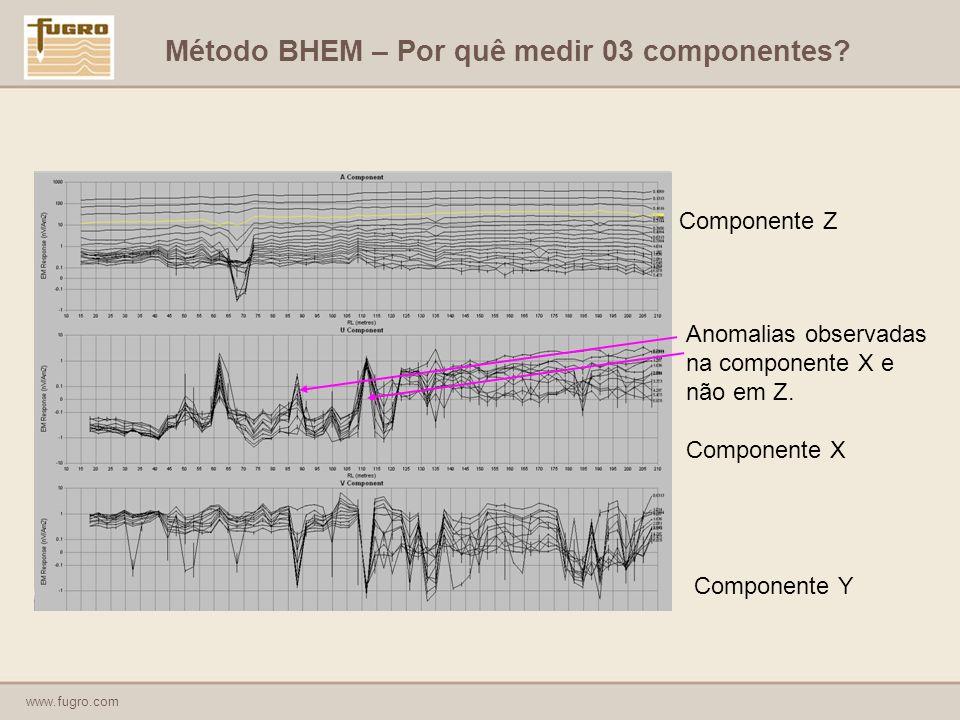 www.fugro.com Anomalias observadas na componente X e não em Z.