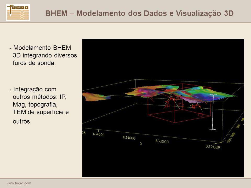 www.fugro.com - Modelamento BHEM 3D integrando diversos furos de sonda.