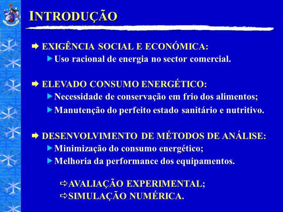 I NTRODUÇÃO EXIGÊNCIA SOCIAL E ECONÓMICA: Uso racional de energia no sector comercial. ELEVADO CONSUMO ENERGÉTICO: Necessidade de conservação em frio