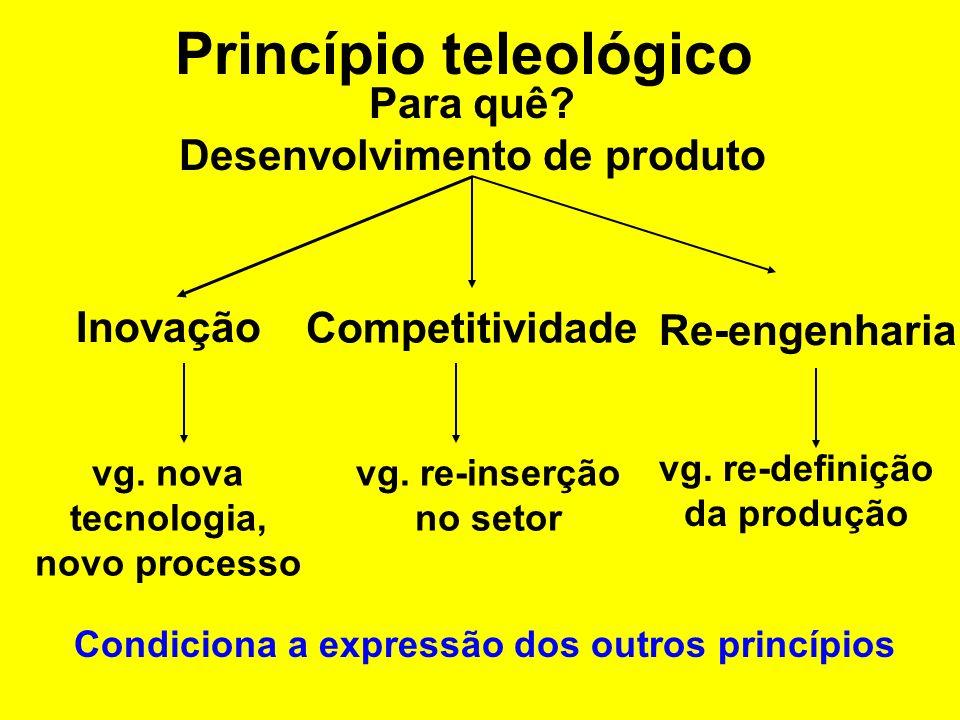 Princípio teleológico Para quê.Conhecimento Descritiva Exploratória vg.