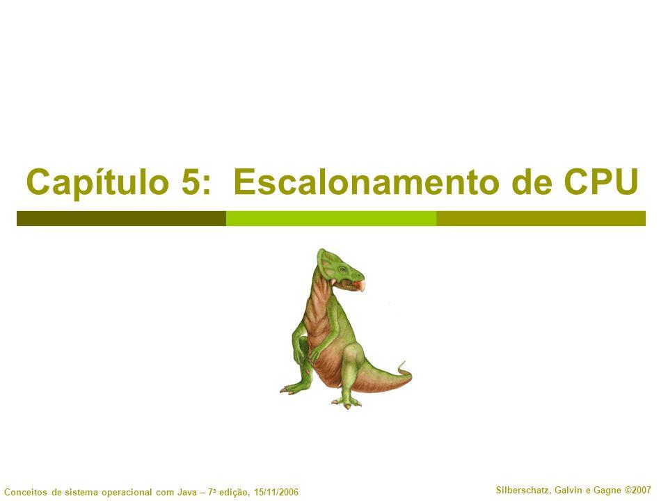 5.32 Silberschatz, Galvin e Gagne ©2007 Conceitos de sistema operacional com Java – 7 a edição, 15/11/2006 Exemplos de sistema operacional Escalonamento do Solaris Escalonamento do Windows XP Escalonamento do Linux