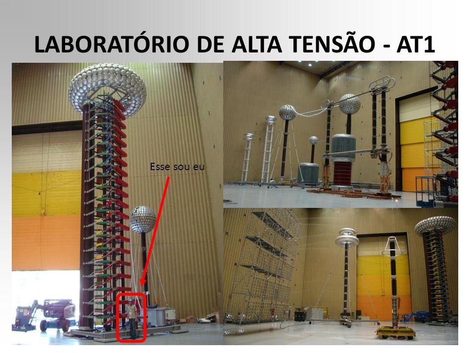 LABORATÓRIO DE ALTA TENSÃO - AT1 O laboratório de Alta Tensão destina-se à realização de ensaios dielétricos de aceitação, pesquisa e desenvolvimento