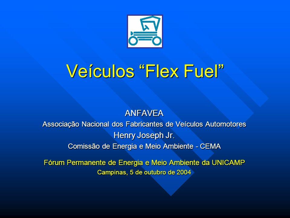 Veículos Flex Fuel ANFAVEA Associação Nacional dos Fabricantes de Veículos Automotores Henry Joseph Jr. Comissão de Energia e Meio Ambiente - CEMA Fór