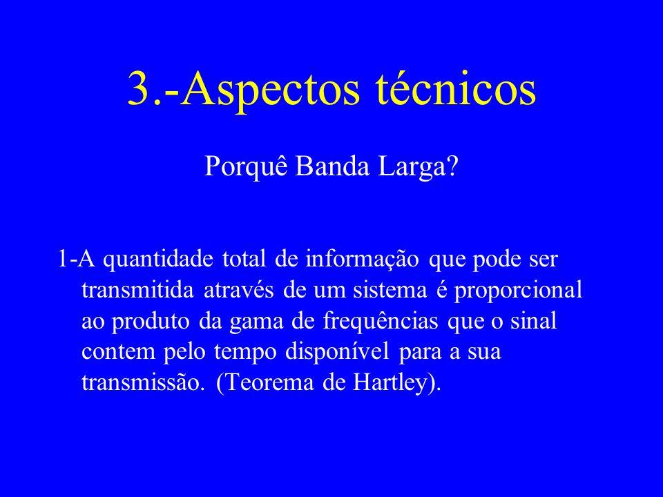 3.-Aspectos técnicos Porquê Banda Larga.