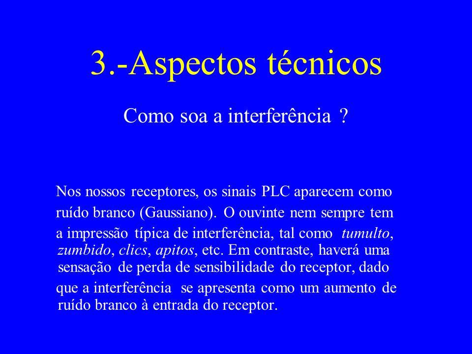 3.-Aspectos técnicos Como soa a interferência .