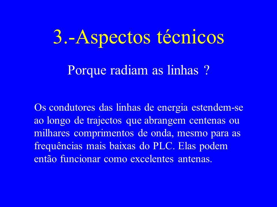 3.-Aspectos técnicos Porque radiam as linhas .