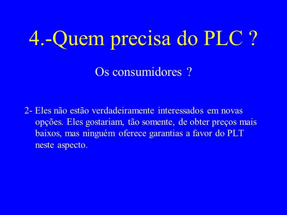 4.-Quem precisa do PLC .Os consumidores .