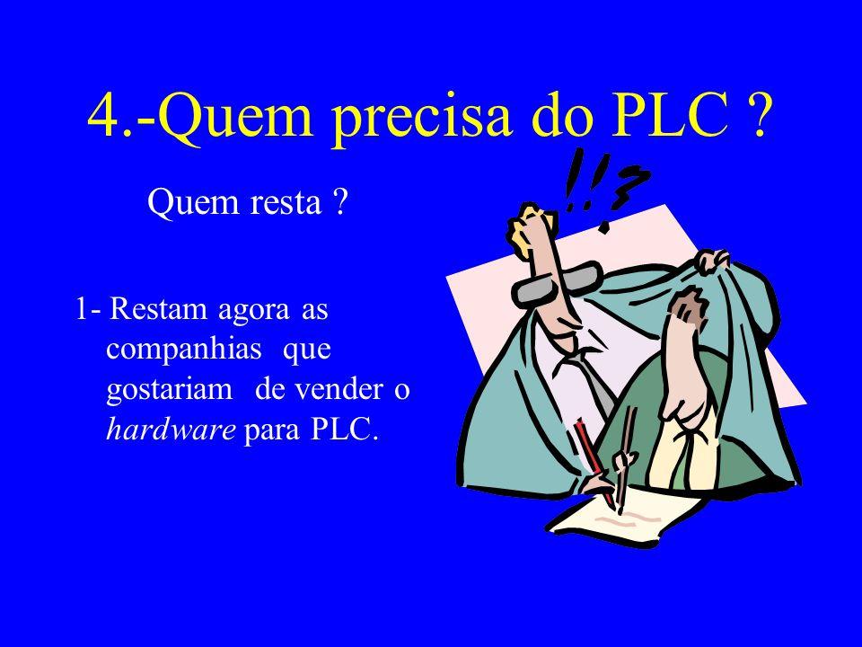 4.-Quem precisa do PLC .Quem resta .