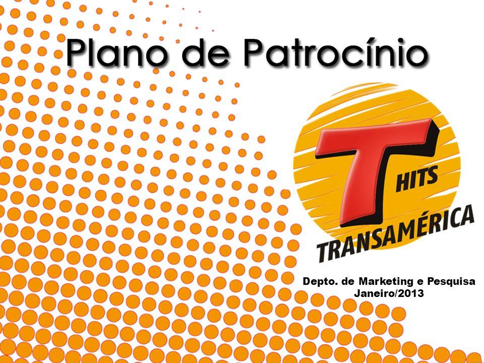 Apresentação Presente em mais de 1.000 cidades do Brasil, a Rede Transamérica Hits é dirigida ao segmento popular e atinge um público de ambos os sexos, na faixa etária de 15 a 39 anos.