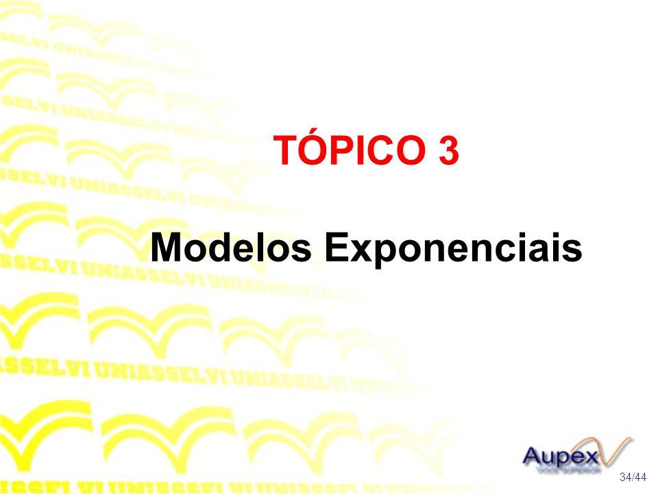TÓPICO 3 Modelos Exponenciais 34/44