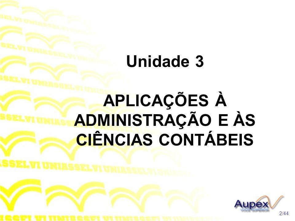 TÓPICO 1 Modelos Lineares 3/44