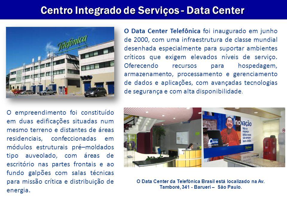 VP Empresas Centro Integrado de Serviços - Data Center Salas de Data Center: Os equipamentos do cliente podem ser acomodados em Racks tipo gabinete (fechado), altura 46 U´s (2,04 m), largura 80 cm, profundidade 1,1 m, porta com chave.