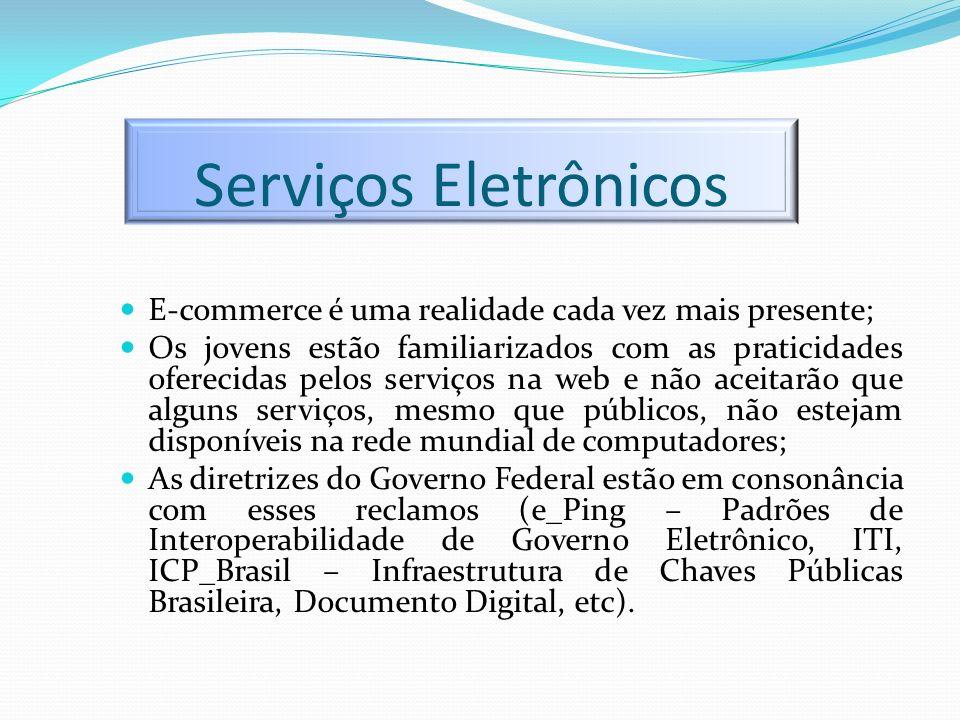 Serviços Eletrônicos E-commerce é uma realidade cada vez mais presente; Os jovens estão familiarizados com as praticidades oferecidas pelos serviços n
