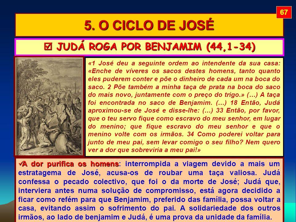 5. O CICLO DE JOSÉ «1 José deu a seguinte ordem ao intendente da sua casa: «Enche de víveres os sacos destes homens, tanto quanto eles puderem conter