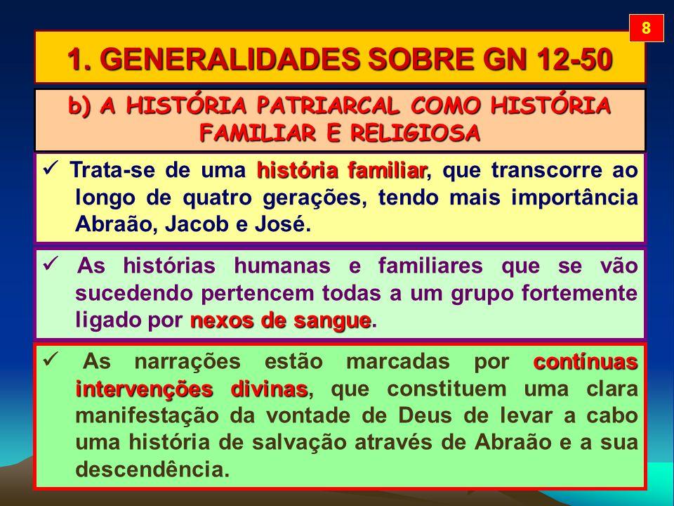 1. GENERALIDADES SOBRE GN 12-50 história familiar Trata-se de uma história familiar, que transcorre ao longo de quatro gerações, tendo mais importânci