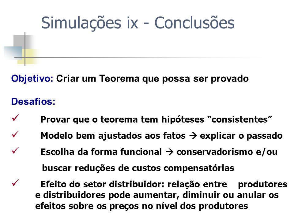 Objetivo: Criar um Teorema que possa ser provado Desafios: Provar que o teorema tem hipóteses consistentes Modelo bem ajustados aos fatos explicar o p