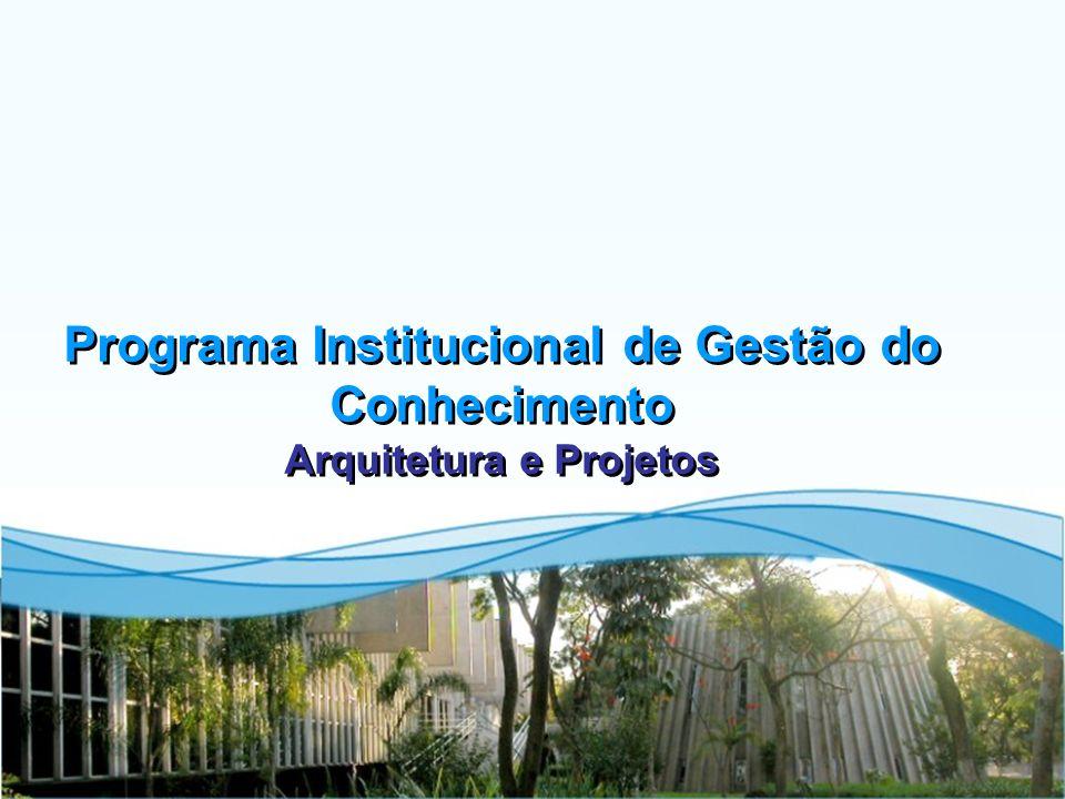 Programa Institucional de Gestão do Conhecimento Arquitetura e Projetos Programa Institucional de Gestão do Conhecimento Arquitetura e Projetos