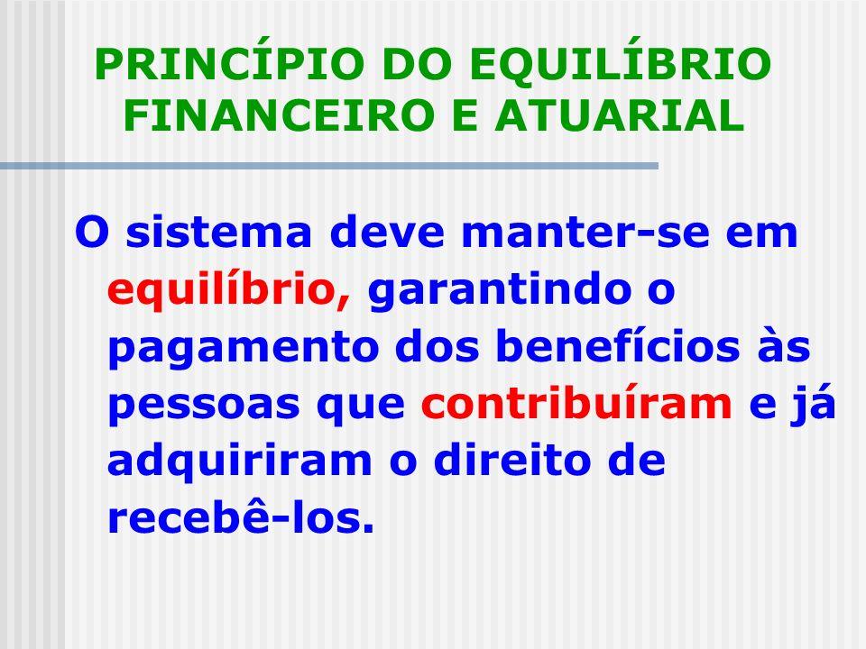 PRINCÍPIO DA OBRIGATORIEDADE Todos aqueles que exercem atividade remunerada estão obrigados a contribuir com uma parcela de sua renda para a Seguridad