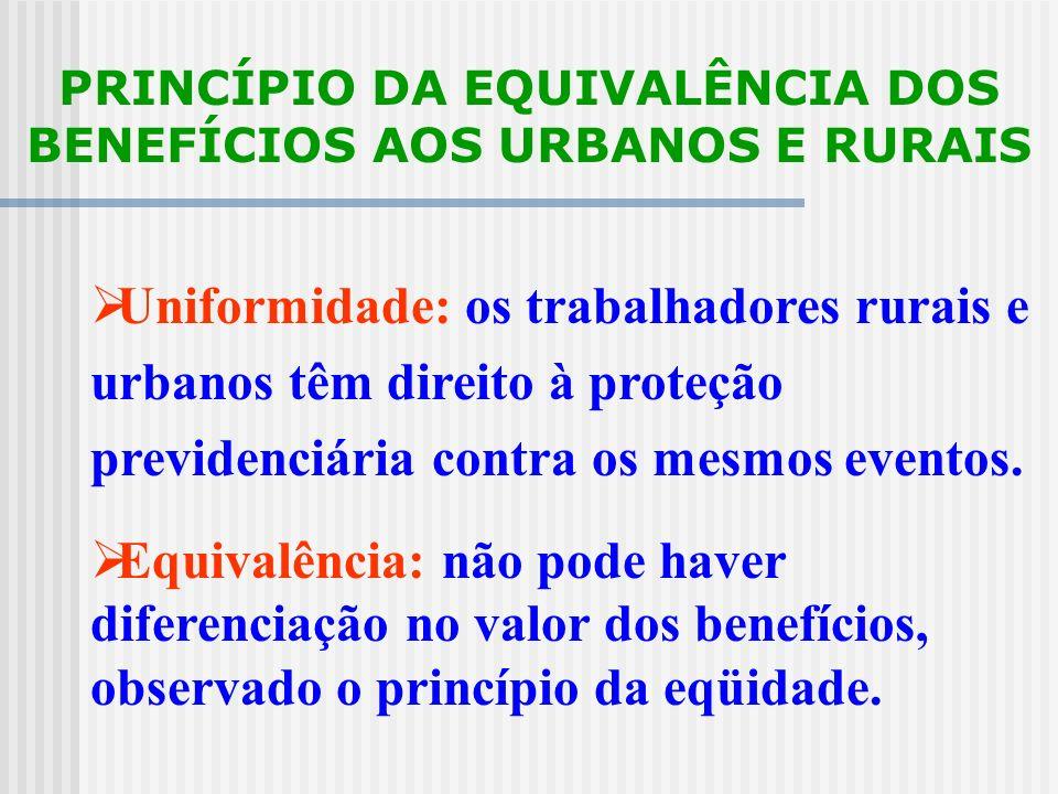 PRINCÍPIO DO EQUILÍBRIO FINANCEIRO E ATUARIAL O sistema deve manter-se em equilíbrio, garantindo o pagamento dos benefícios às pessoas que contribuíra