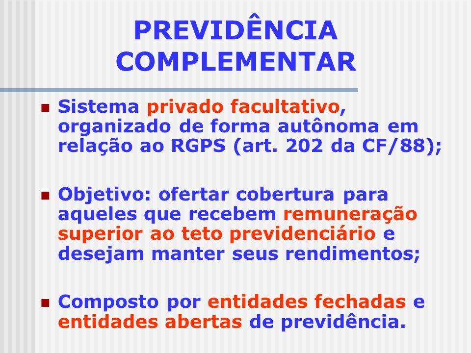 REGIMES DE PREVIDÊNCIA NO BRASIL REGIME GERAL DE PREVIDÊNCIA SOCIAL Trabalhadores do setor privado Obrigatório, nacional, público, sistema de repartiç