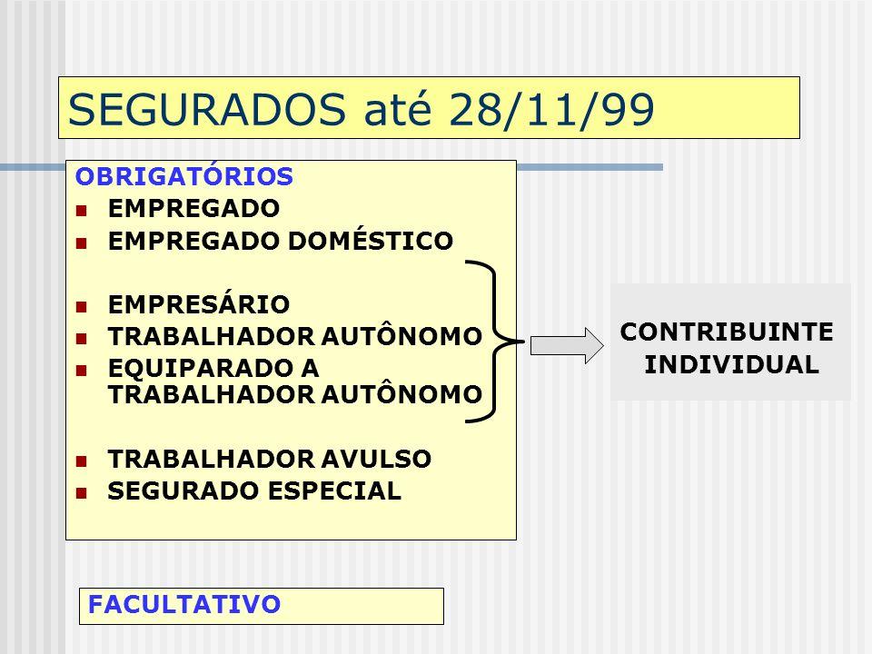 SEGURADO DO RGPS É todo aquele que, segundo características e condições definidas em lei, vincula-se ao regime: obrigatória ou facultativamente