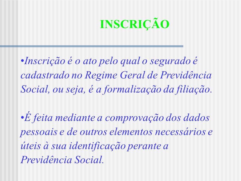 FILIAÇÃO Vínculo entre pessoas que contribuem para a Previdência Social e esta, do qual decorrem direitos e obrigações ( art. 20 RPS). PARA OS OBRIGAT