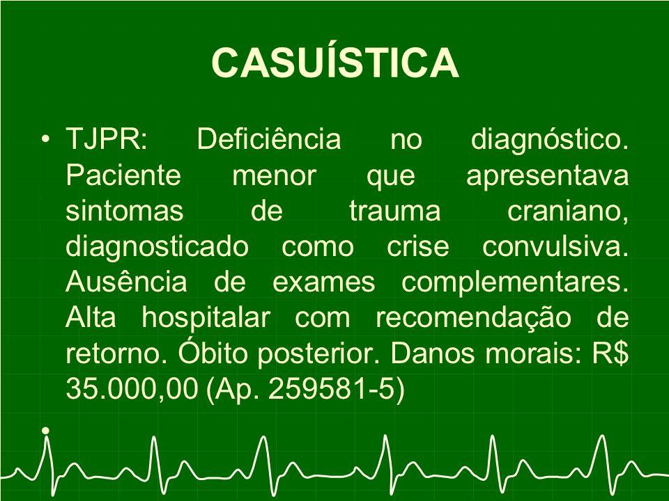 CASUÍSTICA TJPR: Deficiência no diagnóstico.
