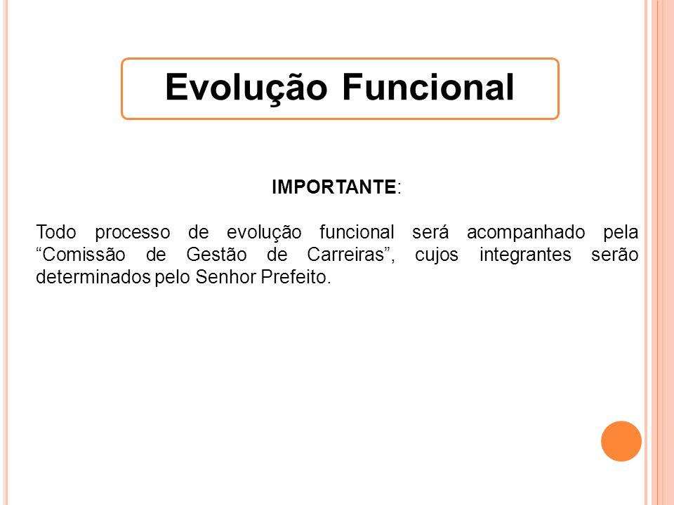 IMPORTANTE: Todo processo de evolução funcional será acompanhado pela Comissão de Gestão de Carreiras, cujos integrantes serão determinados pelo Senho