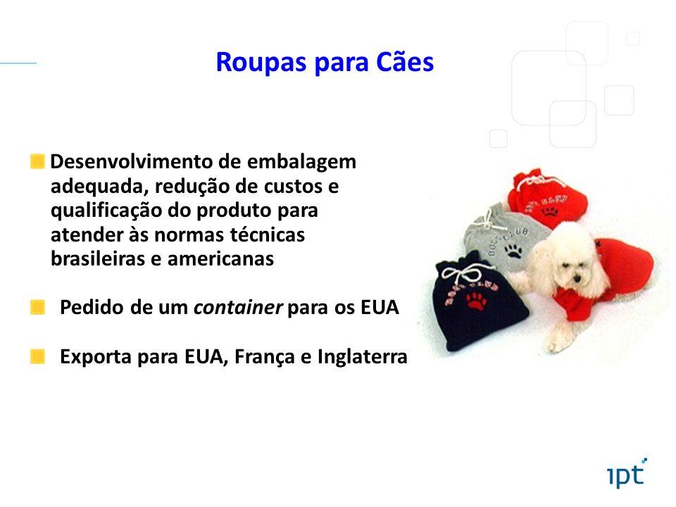 Roupas para Cães Desenvolvimento de embalagem adequada, redução de custos e qualificação do produto para atender às normas técnicas brasileiras e amer