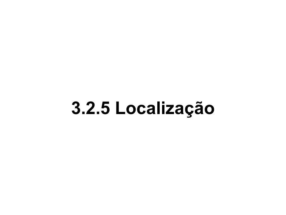 3.2.5 Localização