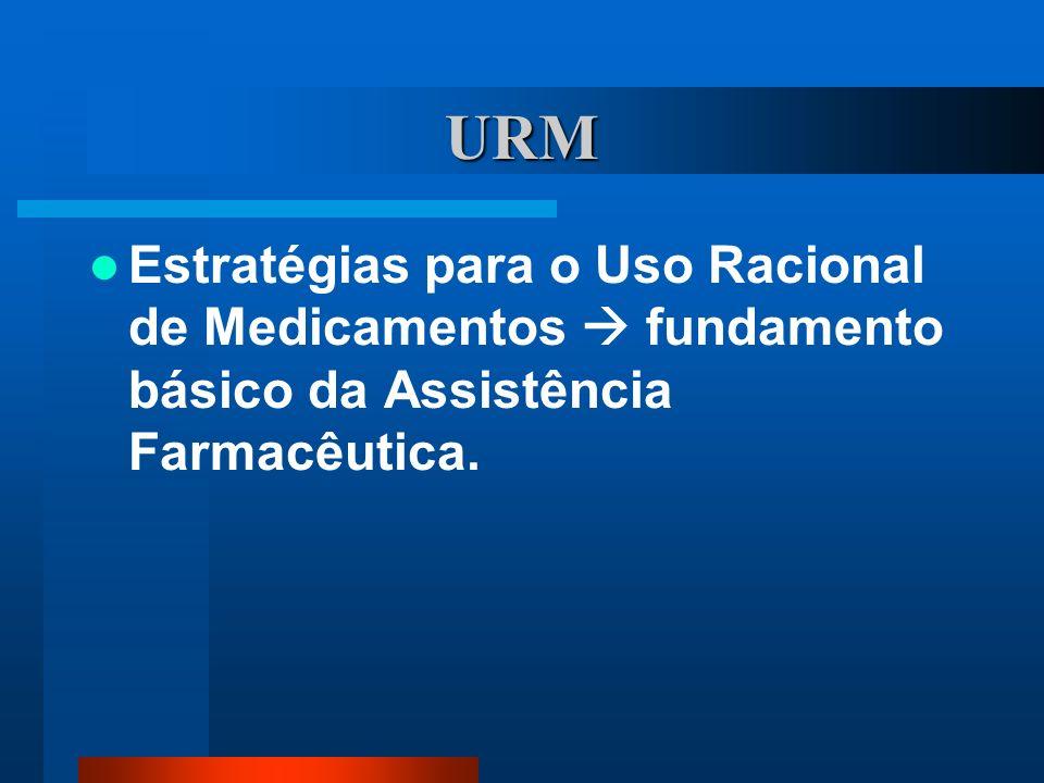 URM Estratégias para o Uso Racional de Medicamentos fundamento básico da Assistência Farmacêutica.