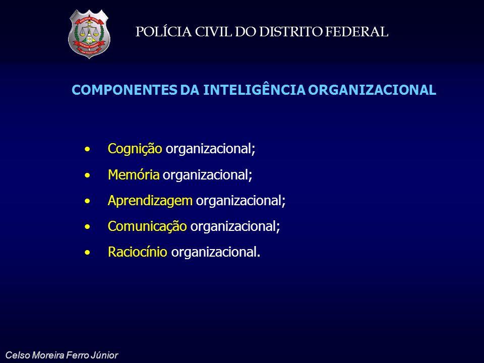 POLÍCIA CIVIL DO DISTRITO FEDERAL Celso Moreira Ferro Júnior Cognição organizacional; Memória organizacional; Aprendizagem organizacional; Comunicação