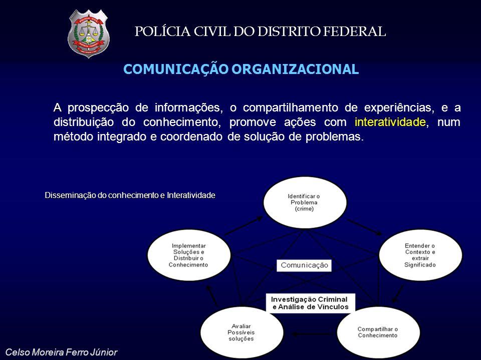 POLÍCIA CIVIL DO DISTRITO FEDERAL Celso Moreira Ferro Júnior COMUNICAÇÃO ORGANIZACIONAL A A prospecção de informações, o compartilhamento de experiênc