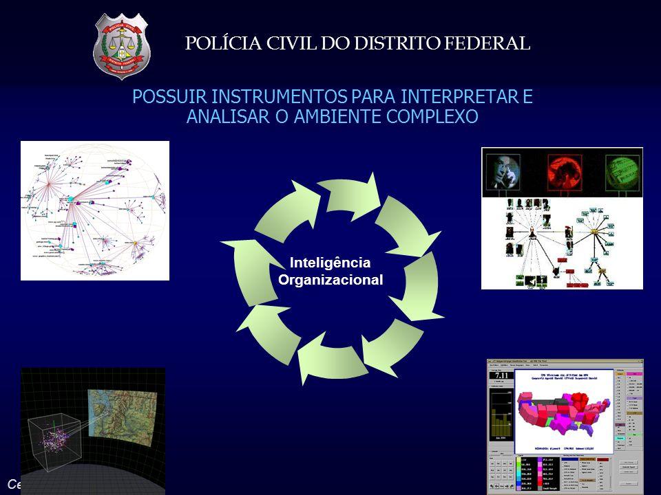 POLÍCIA CIVIL DO DISTRITO FEDERAL Celso Moreira Ferro Júnior POSSUIR INSTRUMENTOS PARA INTERPRETAR E ANALISAR O AMBIENTE COMPLEXO Inteligência Organiz
